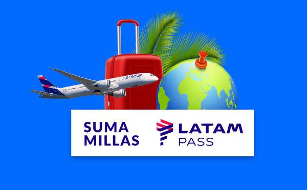 ¡Ahora sumás millas Latam Pass!