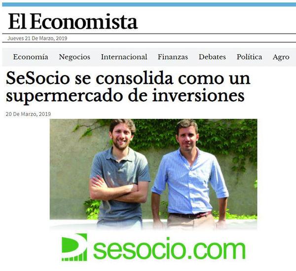 El Economista: SeSocio se consolida como un supermercado de inversiones