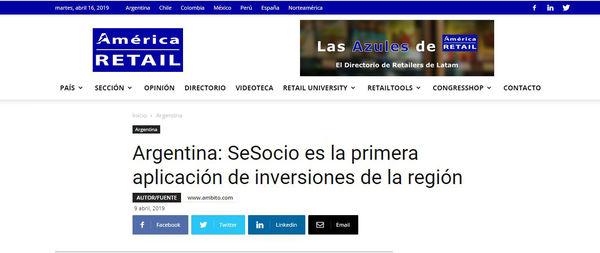 América Retail: SeSocio es la primera aplicación de inversiones de la región