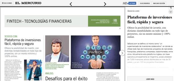 El Mercurio: Plataforma de inversiones fácil, rápida y segura
