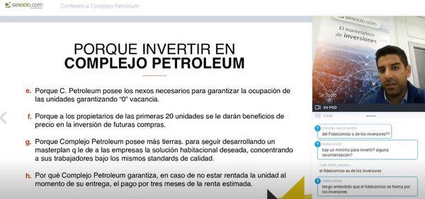 Conferencia online - Complejo Petroleum